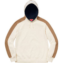 Supreme Pullovers Unisex Street Style Long Sleeves Plain Cotton