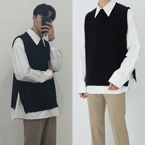 ★MINIDALY★Side button knit Vest 4colors