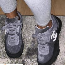 CHANEL Suede Sneakers