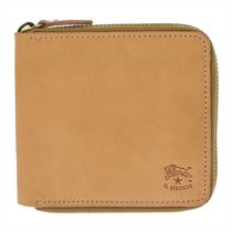 IL BISONTE Unisex Plain Leather Folding Wallet Folding Wallets