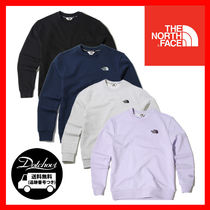 THE NORTH FACE WHITE LABEL Crew Neck Unisex Street Style Long Sleeves Plain Cotton