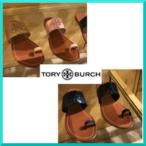 Tory Burch Open Toe Casual Style Plain Leather Sandals Sandal