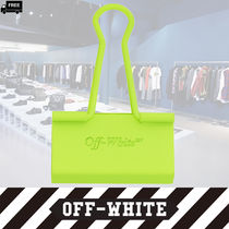 Off-White Plain Leather Handmade Accessories