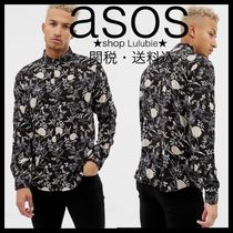 ASOS Button-down Flower Patterns Street Style Long Sleeves Shirts