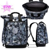 Nike Flower Patterns Casual Style A4 Backpacks