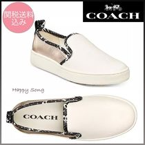 Coach Plain Slip-On Shoes