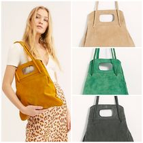 Free People Faux Fur Plain Office Style Totes