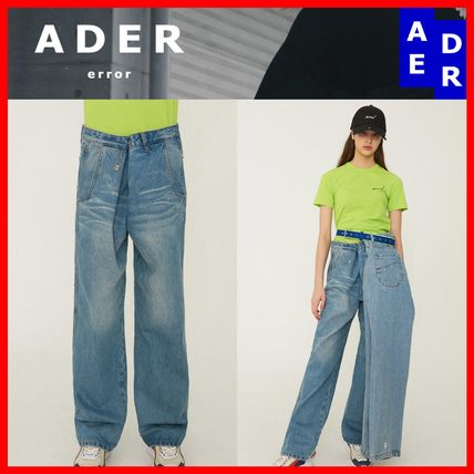 ADERERROR More Jeans Unisex Street Style Cotton Jeans
