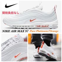 Nike AIR MAX 97 Unisex Street Style Plain Leather Sneakers