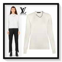 Louis Vuitton Crew Neck Short Casual Style Cashmere Long Sleeves Chain
