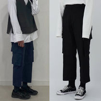 ★MINIDALY★Crop Wide Cargo Pants【2colors】