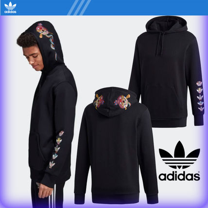 adidas Hoodies Street Style Collaboration Cotton Hoodies
