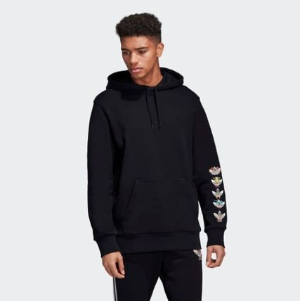 adidas Hoodies Street Style Collaboration Cotton Hoodies 4