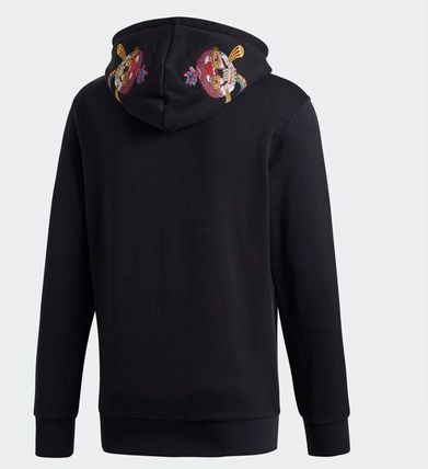 adidas Hoodies Street Style Collaboration Cotton Hoodies 6