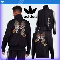 adidas Stripes Street Style Collaboration Cotton Hoodies