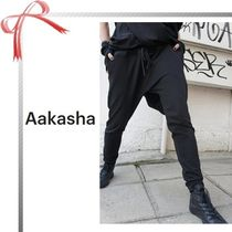 Aakasha Casual Style Plain Cotton Long Sarouel Pants