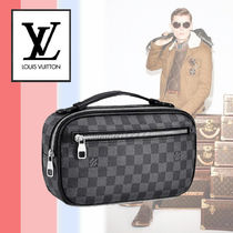 Louis Vuitton DAMIER GRAPHITE 3WAY Leather Messenger & Shoulder Bags