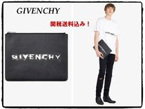 GIVENCHY Unisex Street Style Plain Leather Clutches