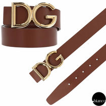 Dolce & Gabbana Plain Leather Belts