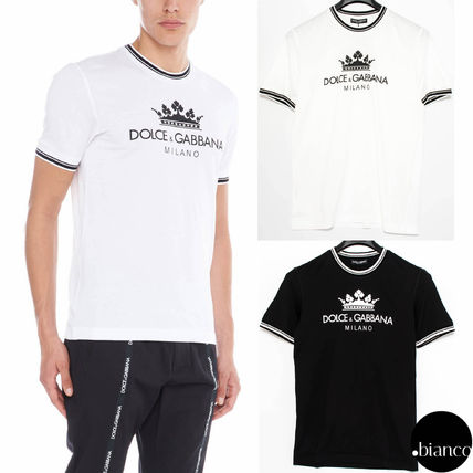 Dolce & Gabbana Crew Neck Crew Neck Cotton Short Sleeves Crew Neck T-Shirts