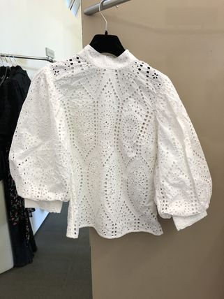 Short Lace Puff Sleeves Cropped