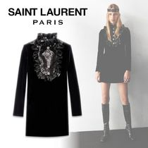 Saint Laurent Short Long Sleeves Dresses