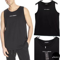 Dolce & Gabbana Plain Cotton Tanks