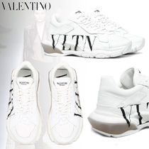 VALENTINO Rubber Sole Casual Style Studded Plain Leather