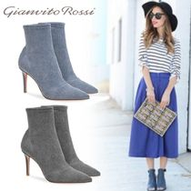 Gianvito Rossi Plain Pin Heels Elegant Style Ankle & Booties Boots