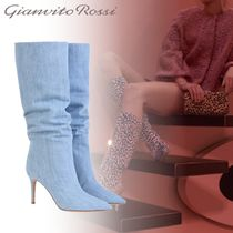 Gianvito Rossi Plain Pin Heels Elegant Style High Heel Boots