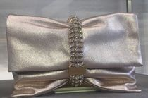 Jimmy Choo Blended Fabrics Chain Plain Party Style Clutches