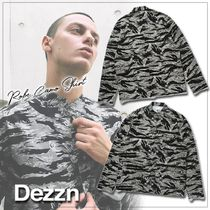 Dezzn Camouflage Street Style Long Sleeves Shirts