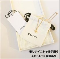 CELINE Unisex Initial Brass Necklaces & Pendants