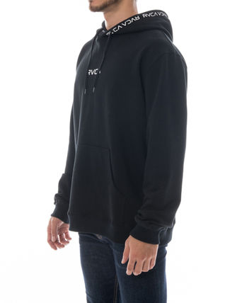 RVCA Hoodies Unisex Long Sleeves Plain Logo Hoodies 3