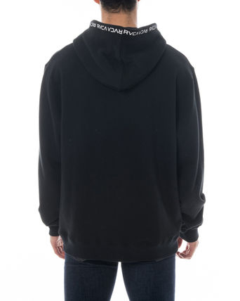 RVCA Hoodies Unisex Long Sleeves Plain Logo Hoodies 4