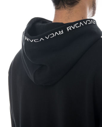RVCA Hoodies Unisex Long Sleeves Plain Logo Hoodies 6