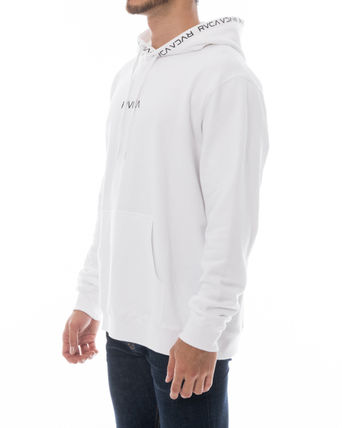 RVCA Hoodies Unisex Long Sleeves Plain Logo Hoodies 8