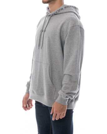 RVCA Hoodies Unisex Long Sleeves Plain Logo Hoodies 10