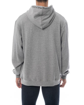 RVCA Hoodies Unisex Long Sleeves Plain Logo Hoodies 11