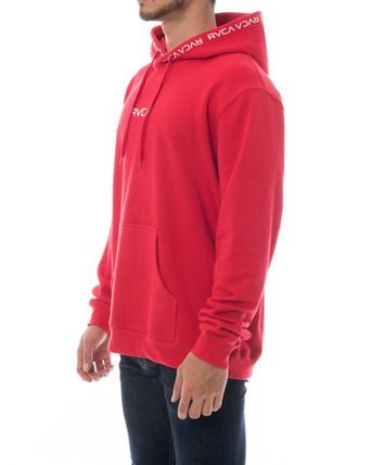 RVCA Hoodies Unisex Long Sleeves Plain Logo Hoodies 12