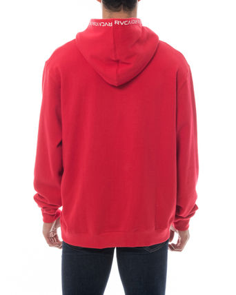 RVCA Hoodies Unisex Long Sleeves Plain Logo Hoodies 13