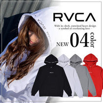 RVCA Unisex Long Sleeves Plain Hoodies