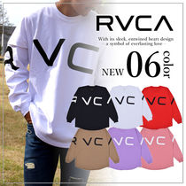 RVCA Unisex Long Sleeves Plain Long Sleeve T-Shirts
