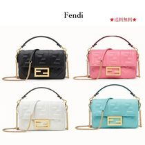 FENDI BAGUETTE Lambskin 2WAY Chain Shoulder Bags