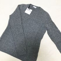 RED VALENTINO Crew Neck Cable Knit Casual Style Wool Long Sleeves Plain