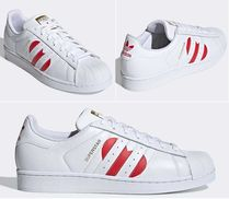 adidas SUPERSTAR Heart Lace-up Unisex Street Style Leather Low-Top Sneakers