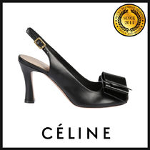 5ec69340691 CELINE Plain Leather Elegant Style Pumps   Mules