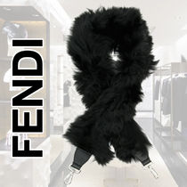 FENDI STRAP YOU Casual Style Blended Fabrics Plain Leather Accessories