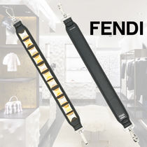 FENDI STRAP YOU Casual Style Studded Street Style Leather Accessories