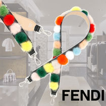 FENDI STRAP YOU Casual Style Leather Accessories